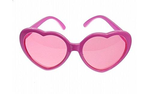 Spassbrille / Brille mit Gläsern in Herzform & pinkem Gestell für Junggesellinnenabschiede, Fotobox Shootings, Karneval, usw.