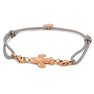 Akitsune Aeterna Damen Armband | Element Charm Armreif austauschbare Elemente - Lilie Rosegold-Grau