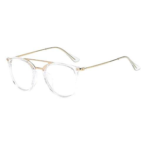 Hzjundasi Unisex Mode Männer Damen Dauerhaft Kurzsichtigkeit Brille Kurz Entfernung Linsen Fahren Kurzsichtig Eyewear (Stärke -2.0, Transparent) (Diese sind nicht Lesen Brille)