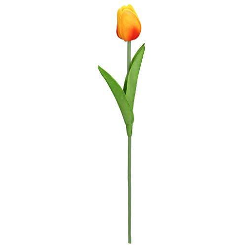 Lucky Mall Wohnaccessoires Deko Kunstblumen Tulpe 1 Stück, Kunstblume Blumenstrauß Haus Deco Hochzeit und Party Bouquet Künstliche Pflanze Künstliche Blume 15 Farben