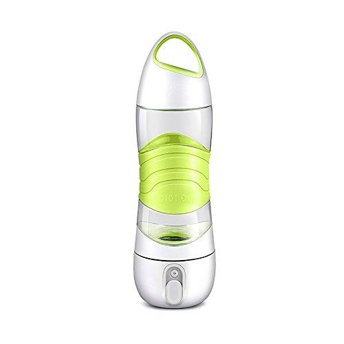 (Nightlight feuchtigkeitsspendende Schönheit SOS Notfall Nachtlicht Acryl Sport Cup portable Männer und Frauen Fitness-Tassen Multi-Funktions-grau blau rosa grün Befeuchter Cup (Color : Green))
