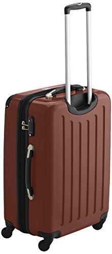 HAUPTSTADTKOFFER - Alex - 2er Koffer-Set Hartschale glänzend, TSA, 65 cm, 74 Liter, Aubergine-Silber Braun-Grün