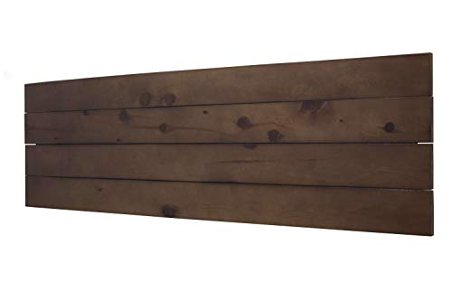 LA WEB DEL COLCHON Cabecero de Madera Palet (Cama 150) 160 x 90 cms. (con Patas) Acabado: Barnizado Nogal Producto Natural con imperfecciones y Nudos Cada Pieza es única