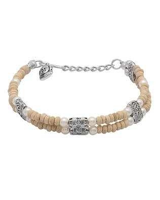 Voylla Designer Tulsi With Oxidised Silver Bracelet  available at amazon for Rs.375