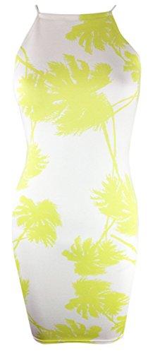 Generic - Robe - Femme multicolore multicolore Lime Green Palm Tree