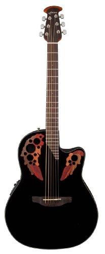 OVATION CELEBRITY ELITE CE445 BLACK Elektroakustische Gitarren Folk Elektro-Akustik (Ovation Gitarre Celebrity)