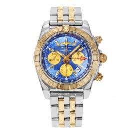 Breitling Chronomat 44 GMT Blue CB042012/C858-375C Steel & 18K Yellow Gold Watch