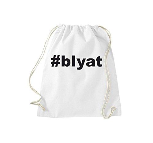 Shirtstown Turnbeutel Hashtag #blyat weiss