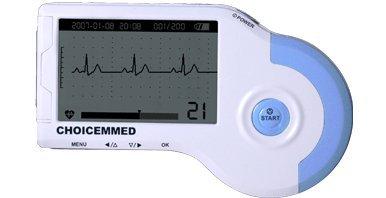MD100B mobiler ECG/EKG Monitor mit LCD, 10 Elektroden, EKG-Kabel, USB-Kabel, Aufbewahrungstasche -