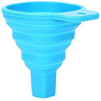 AND-Generic Collapsible and Easy to Store Silicone Funnel for Kitchen (Colour May Vary)
