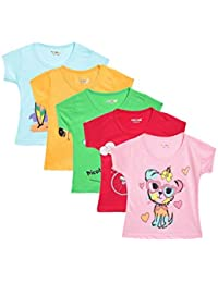 Kuchipoo Girls' T-Shirt (Pack of 5)