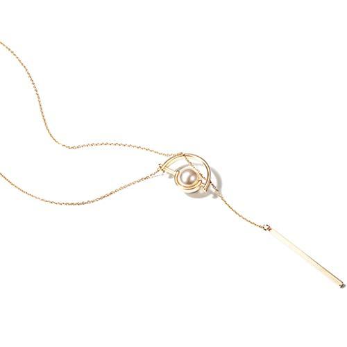 BJ-necklace Joker Pullover Kette Lange Halskette weibliche Herbst und Winter einfache Anhänger Zubehör Halskette