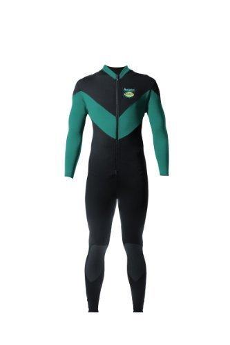 Aeroskin Full Body Anzug Rücken/Nieren mit Kevlar Knieschoner (schwarz/blaugrün, klein) von Aeroskin preisvergleich