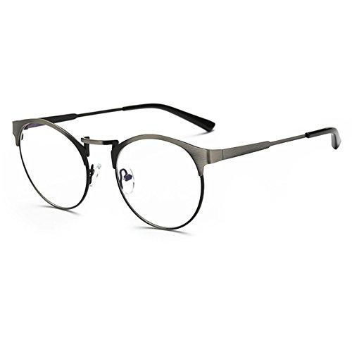 Juleya Männer Frauen Runde Brillengestell-Anti Blau Licht Klare Linse Brillengestell für Computer/PC Spiel/TV/Handy Lesen Brillen