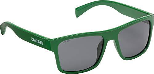Cressi Unisex- Erwachsene Spike Sunglasses Sport Sonnenbrillen, Grüne/Linsen Fumé, One Size
