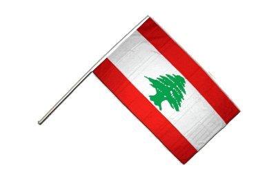 Drapeau Liban sur hampe - 60 x 90 cm