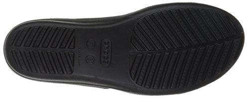 crocs Damen Sanrah Strappy Wedge Offene Sandalen mit Keilabsatz Schwarz (Black)