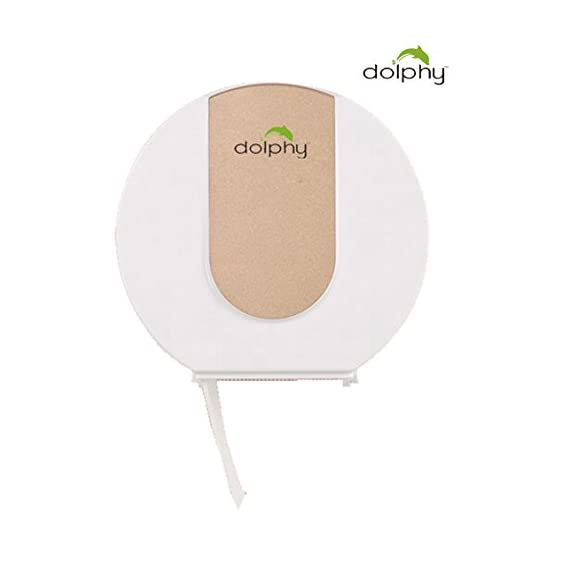 Dolphy Wall Mounted Small Toilet Paper Dispenser - Golden