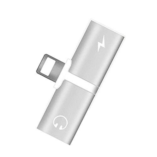 Sunlera Double Jack-Adapter für iPhone 7 8 Plus X 2 in 1 für 8 Pin Kopfhörer Audio Converter Musik aufrufen Splitter Lade