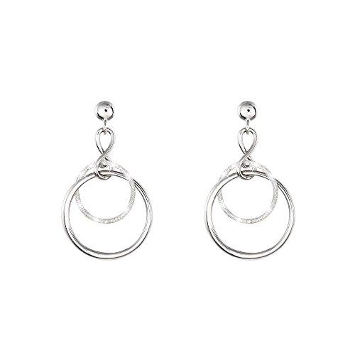 Stroili - Orecchini cerchio in ottone rodiato e glitter per Donna - Couture