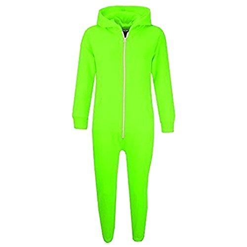 A2Z 4 Kids Unisex Kinder Mädchen Jungen Einfach Farbe - Onesie Plain Neon Green 3-4 -