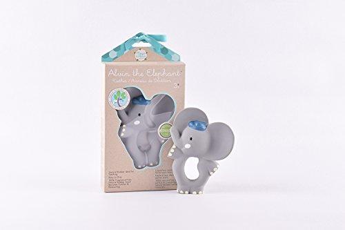 TIKIRI Alvin Beißring Elefant Naturkautschuk in grau