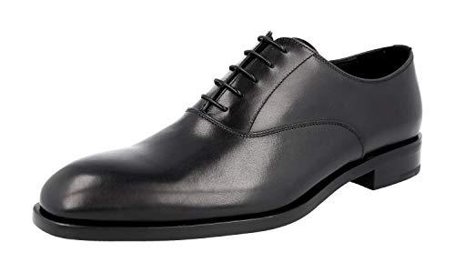 Prada Herren 2EB092 L0C F0002 Leder-Business-Schuhe, Schwarz - Schwarz - Größe: 43 EU