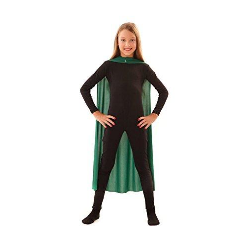 Capa Superhéroe Infantil Verde de 90 cm
