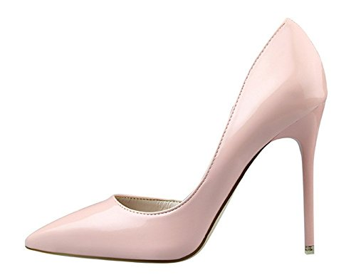Wealsex stiletto high heels damen elegant pumps Pink