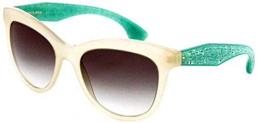 Miu Miu Für Frau 10p Opal Ivory / Light Green Gradient Kunststoffgestell Sonnenbrillen