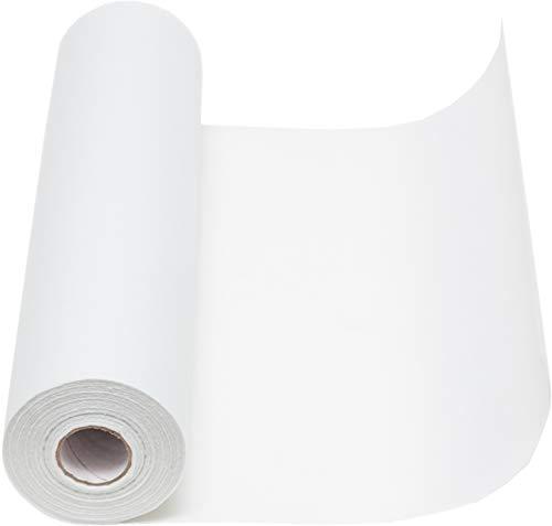 Vlies Tischläufer, 1 Rolle 25 m x 30 cm, Dekostoff   Tischband   Tischdeko Hochzeit, Taufe, Kommunion   Deko Geburtstag (Weiß)