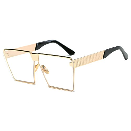 MEIHAOWEI Männer Frauen Square Mirrored Reflective Lens Oversized Polarized Sonnenbrillen Color 5