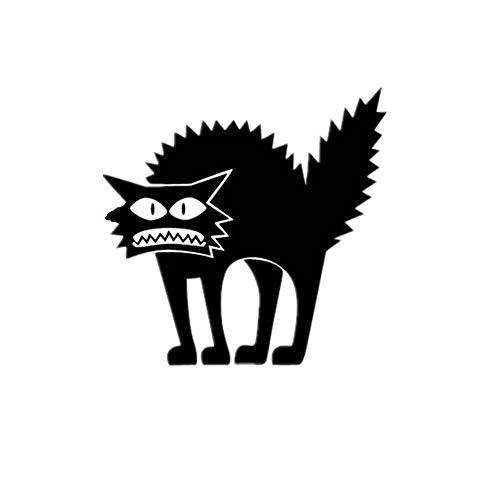 DEELIN Halloween wandaufkleber Vinyl Abnehmbare 3D Wandaufkleber Halloween Schwarze Katze Dekor Decals für Wände Aufkleber (Schwarz) (Den Kostümen Die Halloween-katze, In)