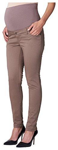 ESPRIT Maternity - Pants OTB slim, Pantaloni da donna, marrone (braun  (taupe 240)), 42