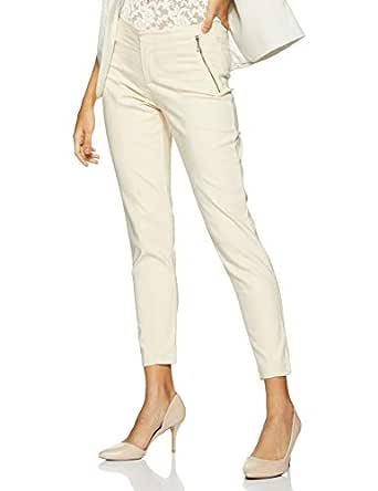 VERO MODA Women's Slim Pants (10171094-1827513014_Cream Tan_x-Small)