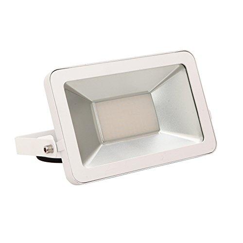 SAILUN 50W Warmweiß LED Strahler Licht Scheinwerfer Außenstrahler Wandstrahler Weiß Aluminium IP65 Wasserdicht AC 85-265V -