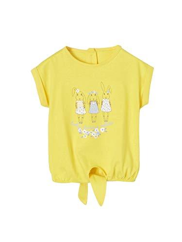 3a9f115f80425 Vertbaudet T-Shirt bébé Fille 3 Lapins et Noeud Devant Jaune 6M - 67CM