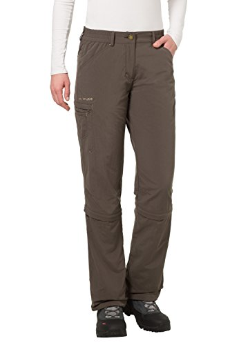 VAUDE Damen Hose Farley Zip Off Capri Pants, Fir Green, 42, 04665 - Fir Green