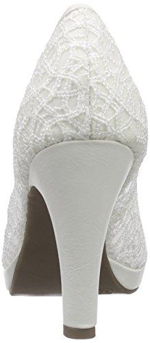 Jane Klain 293 161, Sandalias De Mujer Con Puntera Blanca (weiß (blanco 109))