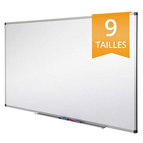 Tableau Blanc Office Marshal® | Tableau Magnétique Élu Meilleur Rapport Qualité/Prix | Tableau Effaçable Aimanté | Série PRO, 78x110cm
