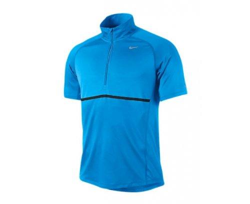NIKE t-shirt sphere pour homme avec fermeture éclair 1/2 zip Bleu - blue glow/blue glow/reflective silver