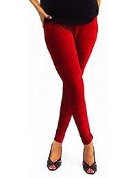 Hap Women's Crimson Velvet Polyester Leggings(Crimson_Crimson_Free Size)