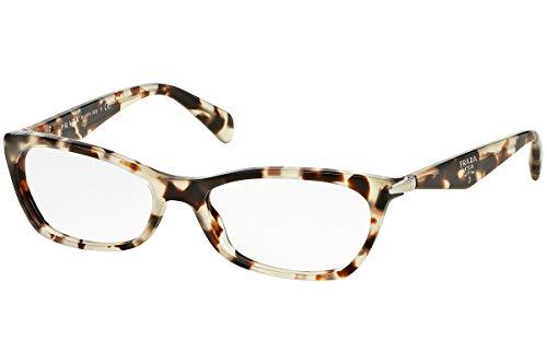 Prada PR15PVA Brillen 55-16-135 Spotted Opal Braun Mit Demonstrationsgläsern UAO1O1 VPR15PV VPR 15PV PR 15PV
