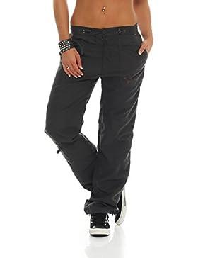 SUCCESS Pantalones de las señoras de la ropa de sport de carga pantalón chino pantalones de corte regular de ocio...