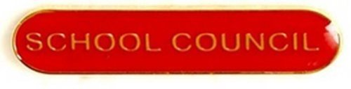 SCHOOL COUNCIL METAL PIN BADGE RED SB012R
