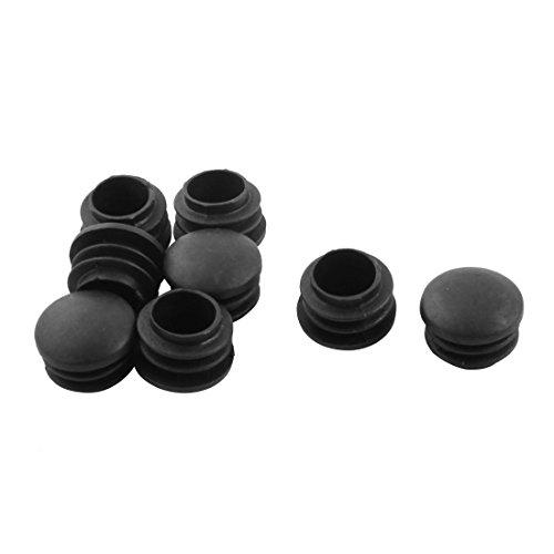 sourcingmap® Stuhlbein Tischbein 22mm Durchmesser Kunststoff Rohr-Einsatz 8 Stück Schwarz de Rohr-tischbeine