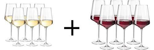 PfalzDeko AKTIONS-Paket 2er Pack! 6X Leonardo Weinglas PUCCINI Weißwein + 6X Leonardo Weinglas PUCCINI Rotwein