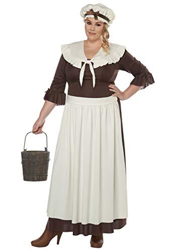 Colonial Village Woman Plus Size Fancy Dress Costume - Amish Kostüm