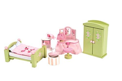 Rosenknospe Schlafzimmer aus Holz Puppenhausmöbel Zubehör
