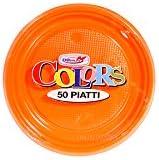 piani Ø arancione 17 cm Stoviglie monouso en plastica colorata DOpla Piatti 01669 (CONF.50)